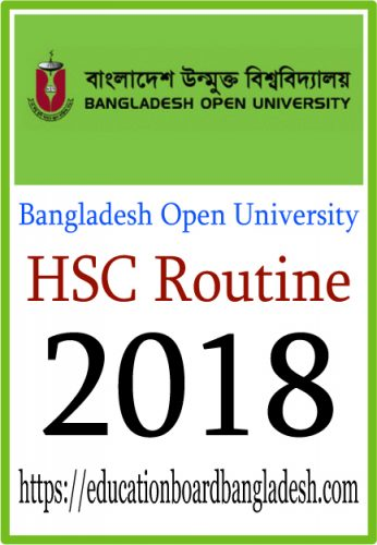 HSC Routine 2018 Bangladesh Open University