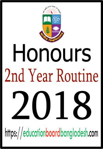 honours 2nd year exam routine 2018