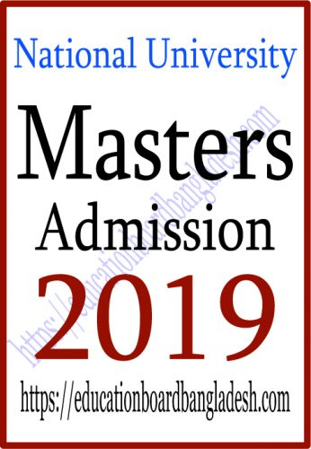 Masters Professional Admission Circular 2019