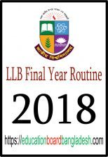 LLB Final Year Routine 2018 (New)