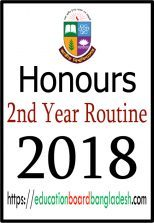 Honours 2nd Year Exam Routine 2018 (New Revised)