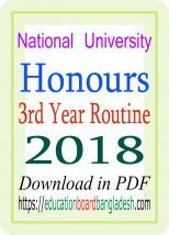 NU Honours 3rd Year Routine 2018