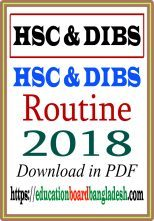 HSC Routine and DIBS Routine 2018